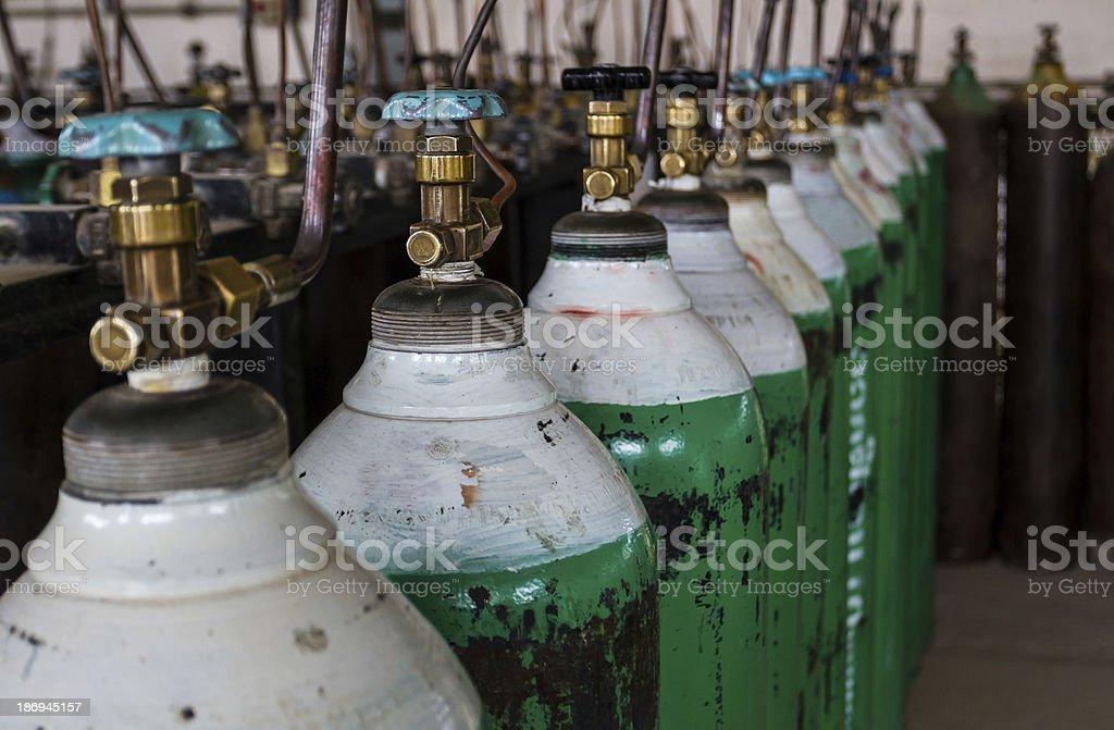 Oxygen tank. stock photo