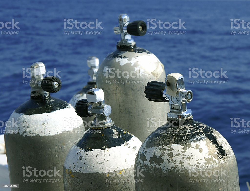 Oxygen tanks royalty-free stock photo