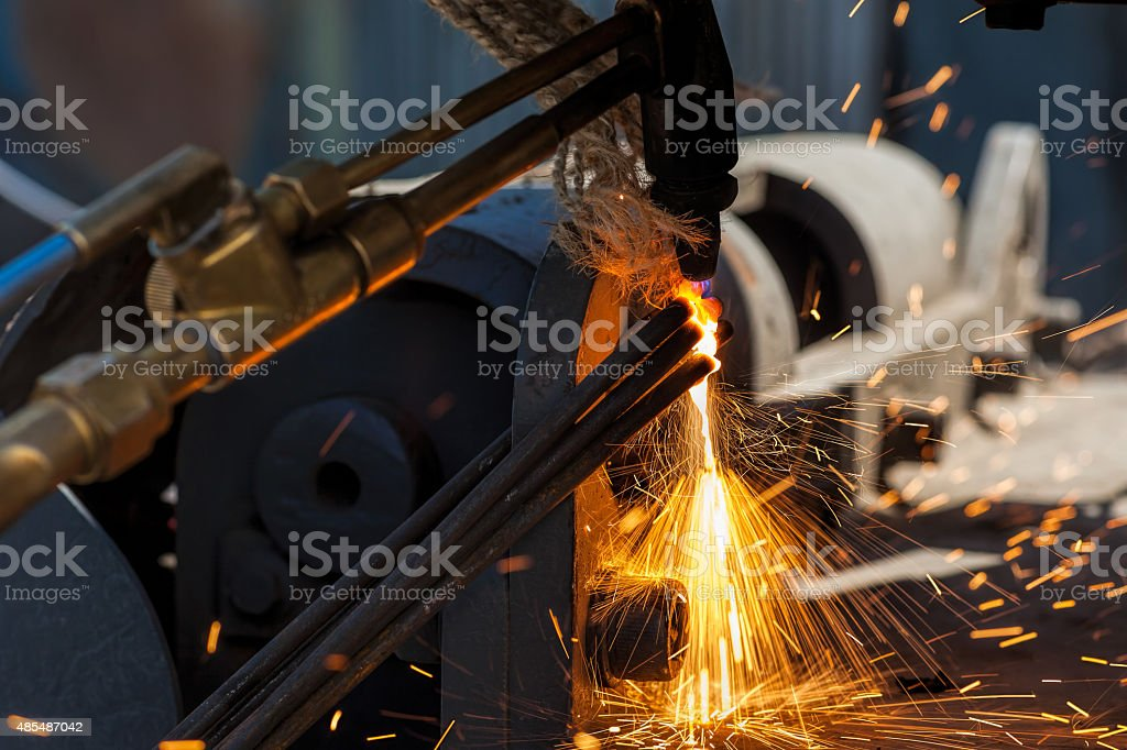 Oxygen-Acetylene Welding - Cutting stock photo