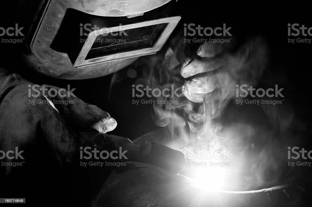 Oxygen-Acetylene Welding: darkness royalty-free stock photo