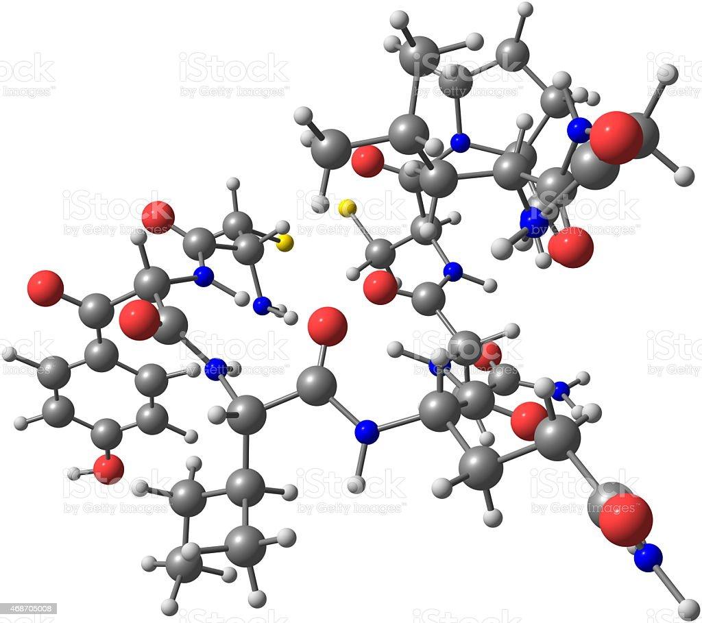 Oxytocin molecule isolated on white stock photo