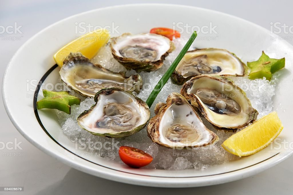 Oyster Appetizer stock photo