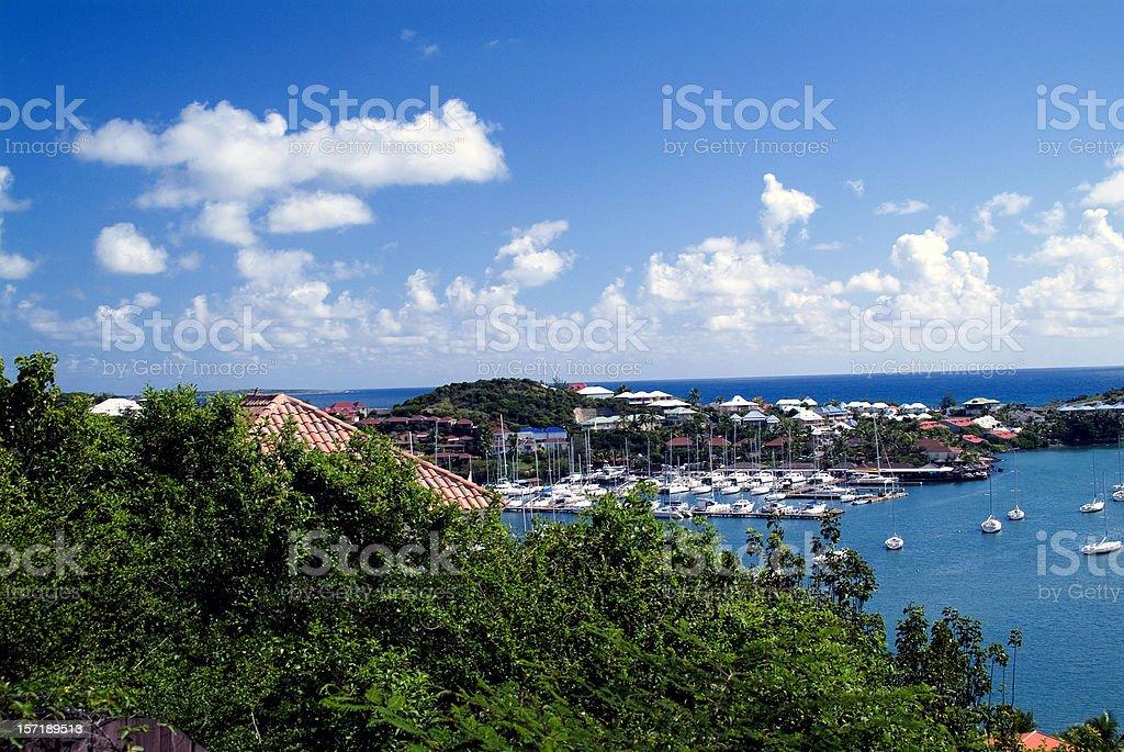 Oyster Bay Marina Saint Maarten stock photo
