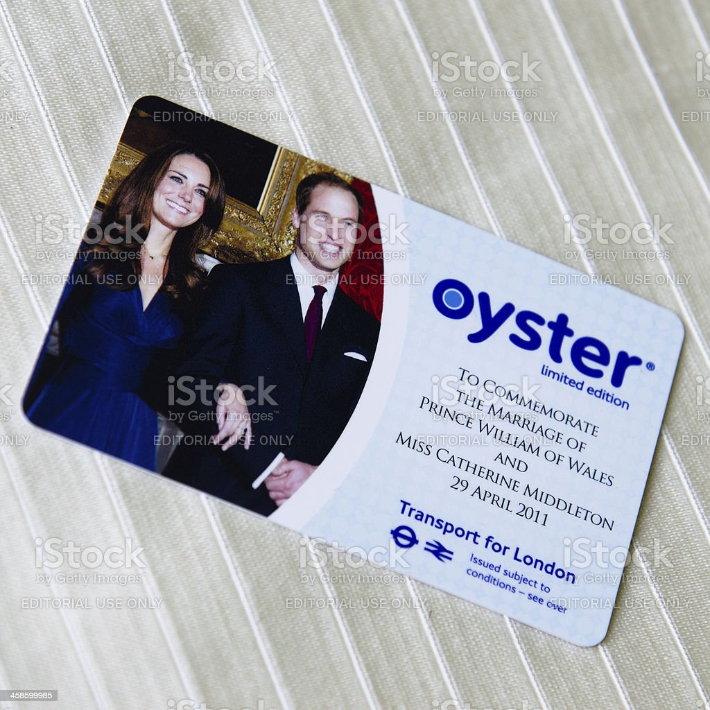 Oyster card on white tissue stock photo