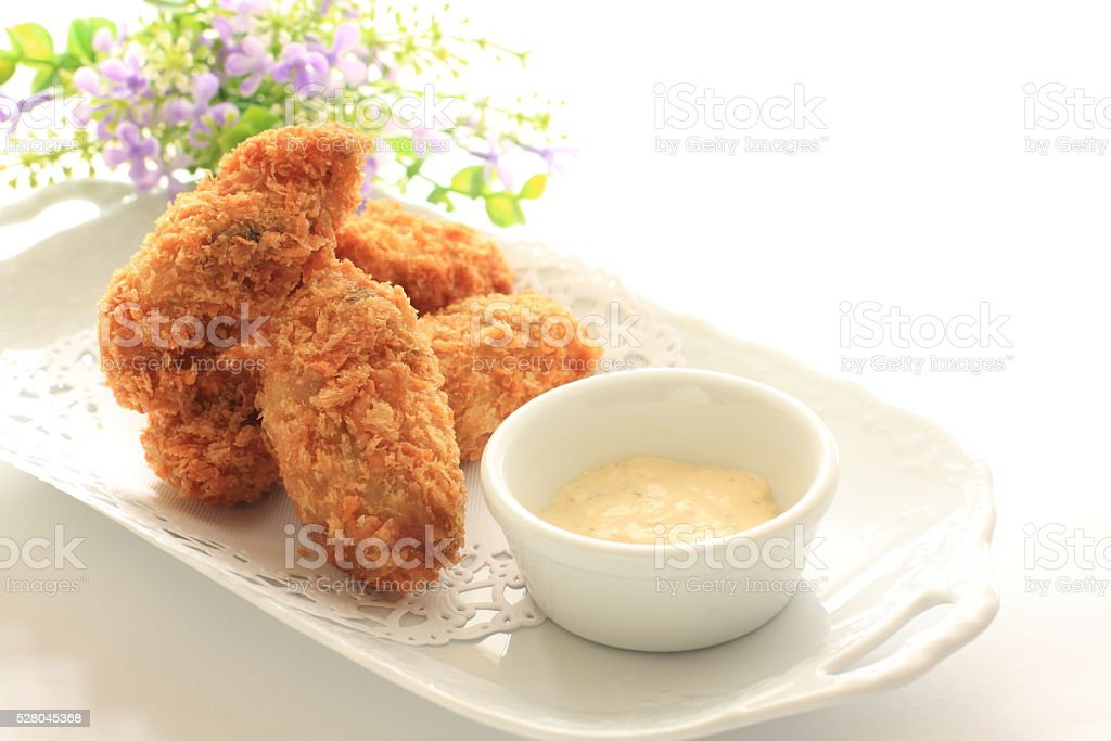 oyster deep fried stock photo