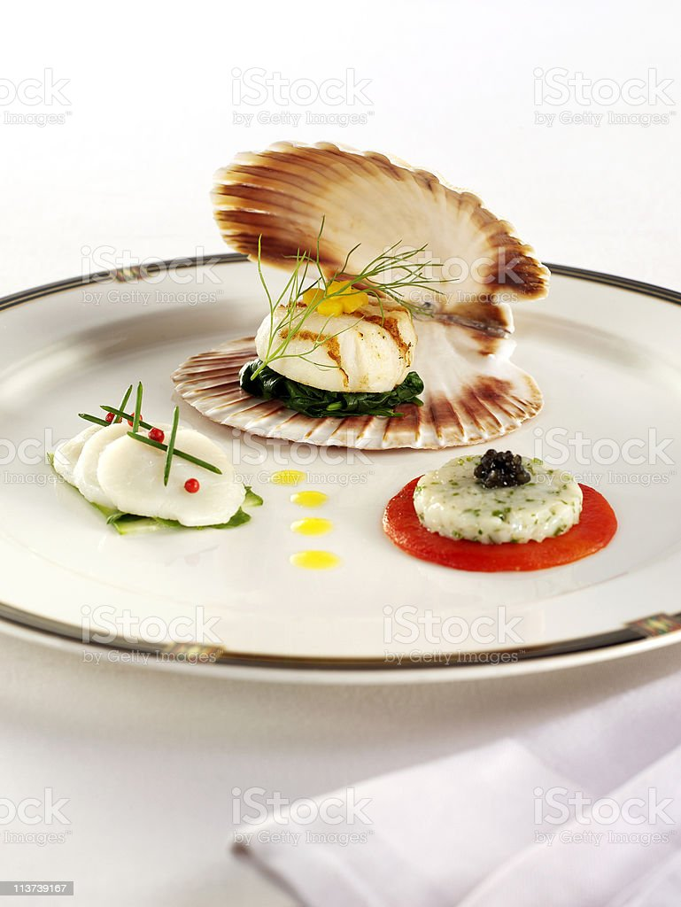 oyster dish royalty-free stock photo