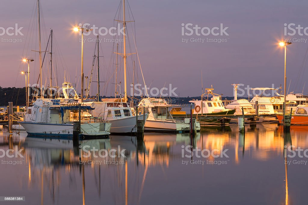 Oyster Harbour Marina stock photo
