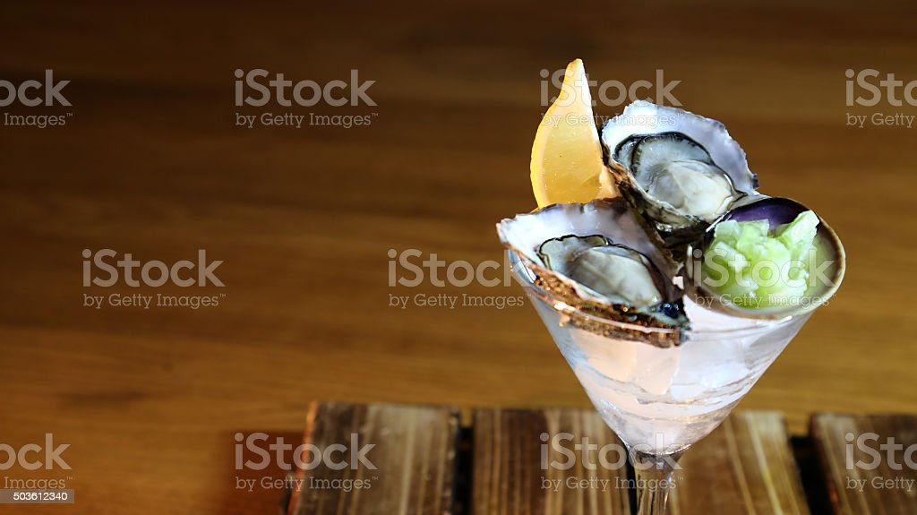 Oyster Martini stock photo