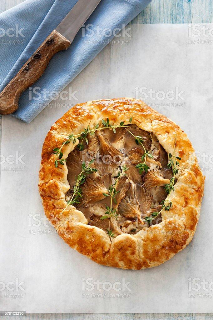 Oyster Mushroom, pizza,food stock photo