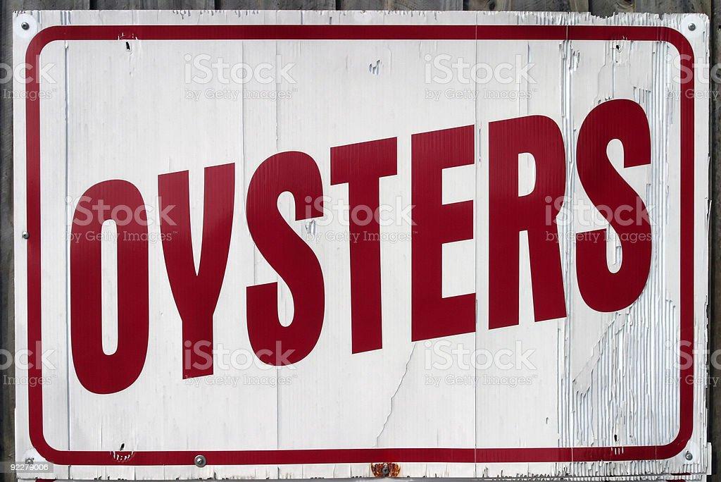 Panneau d'Oyster photo libre de droits