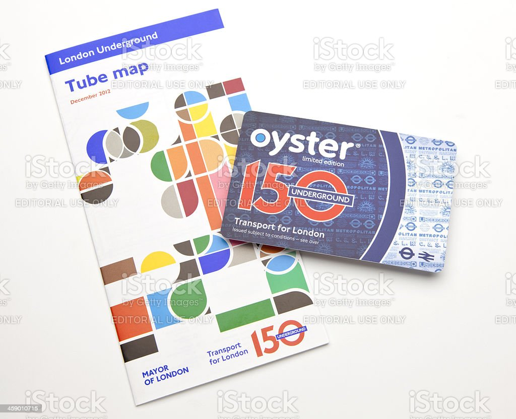 Oyster Travel Card stock photo