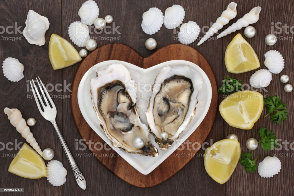 Oysters and Pearls stock photo