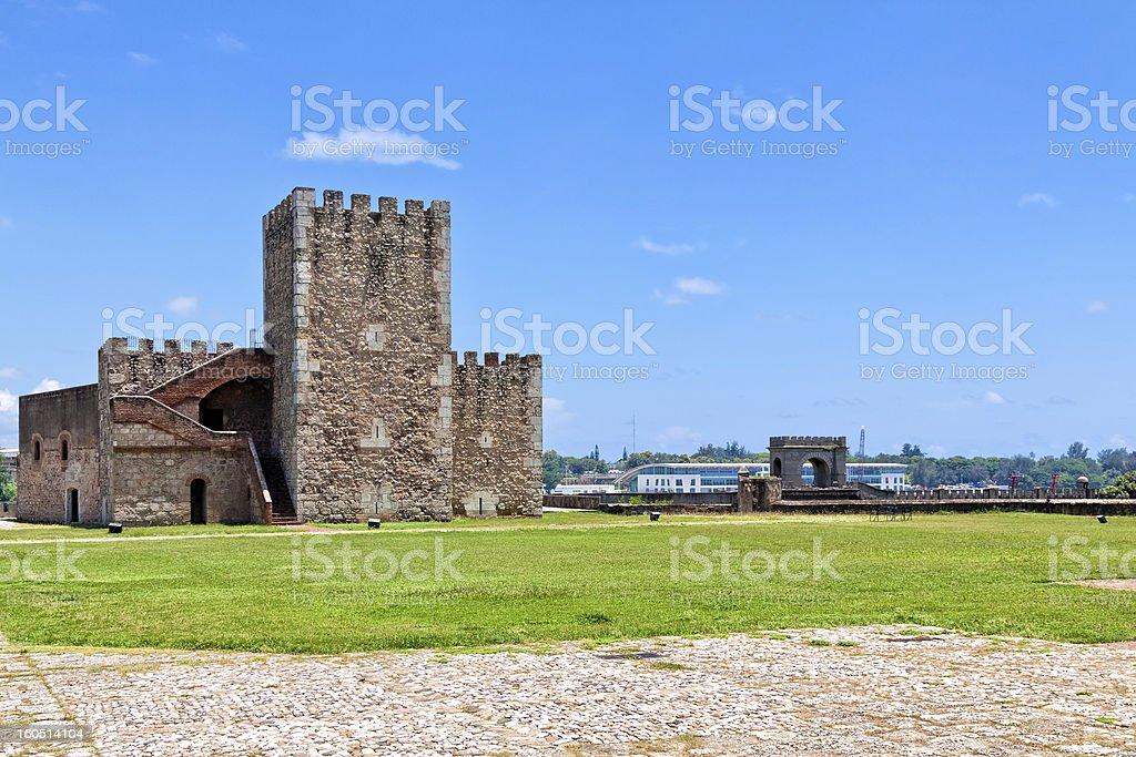 Ozama Fortress, Santo Domingo royalty-free stock photo