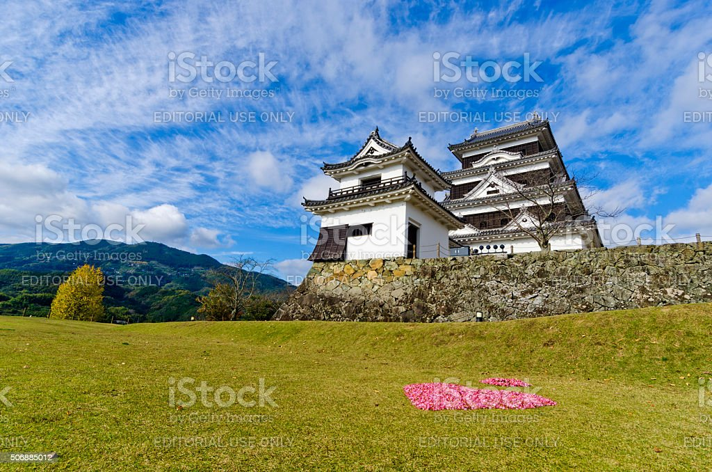 Ozu castle in Ehime prefecture, Shikoku, Japan stock photo
