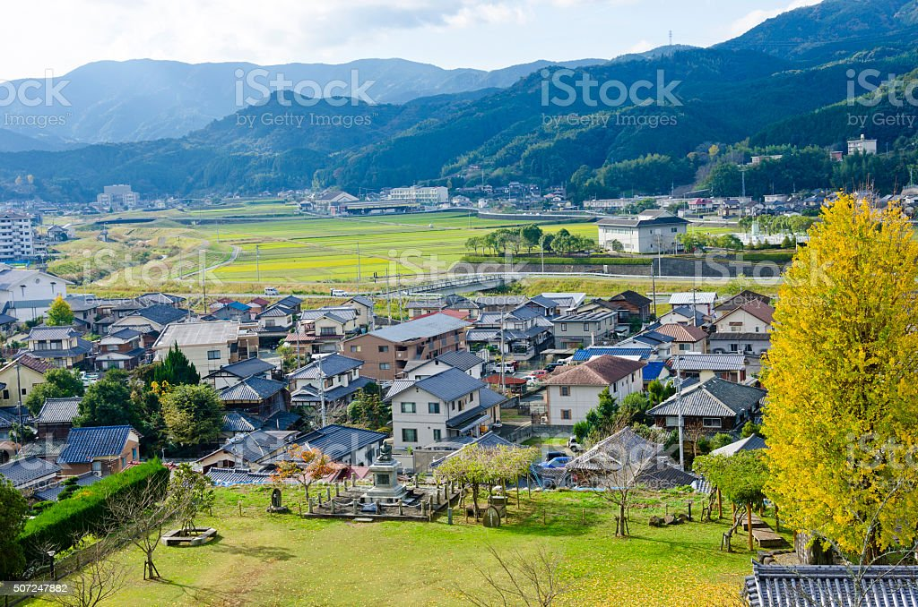 ozu town in Sikoku stock photo