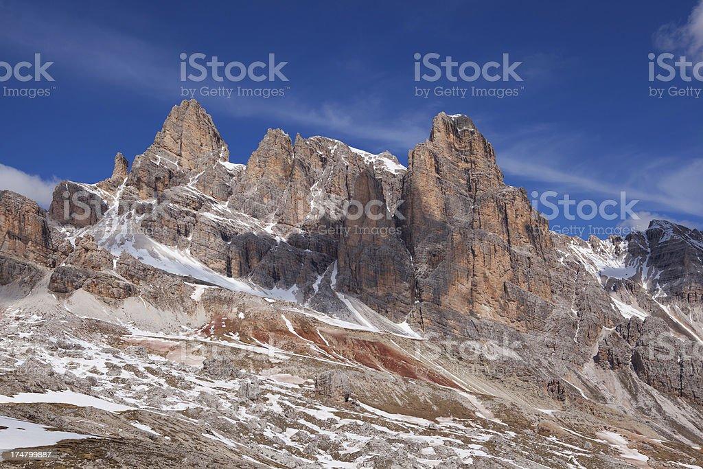 p. Ta Berrino at the Dolomites, Italy royalty-free stock photo