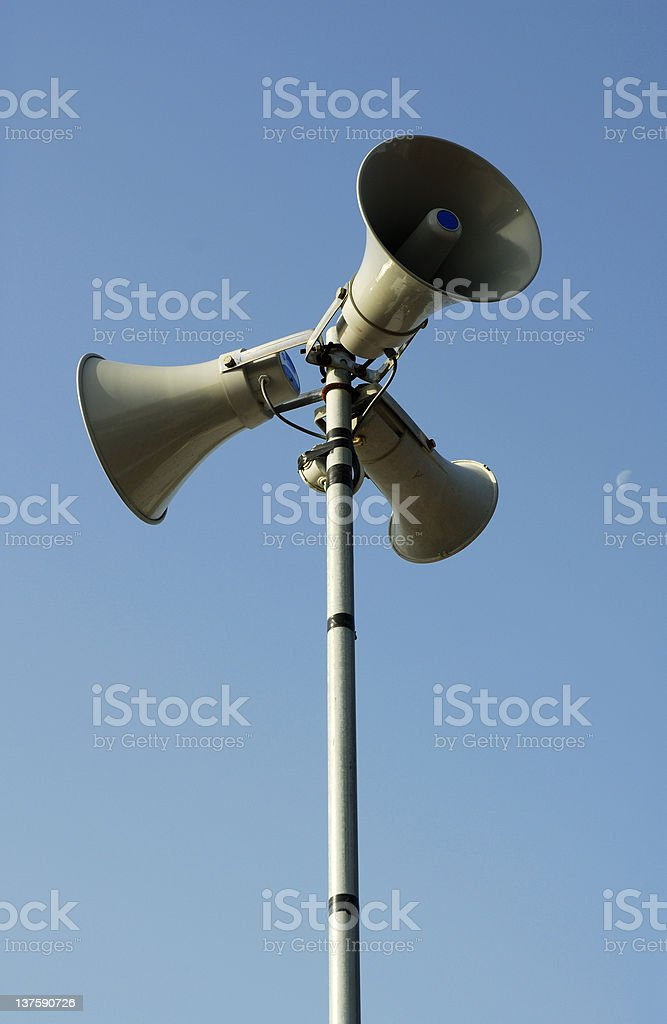 pa loudspeaker royalty-free stock photo