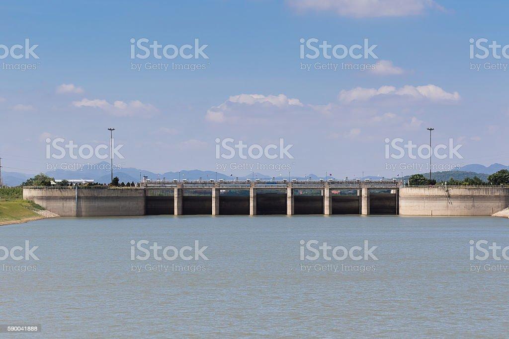 Pa Sak Jolasid Dam stock photo