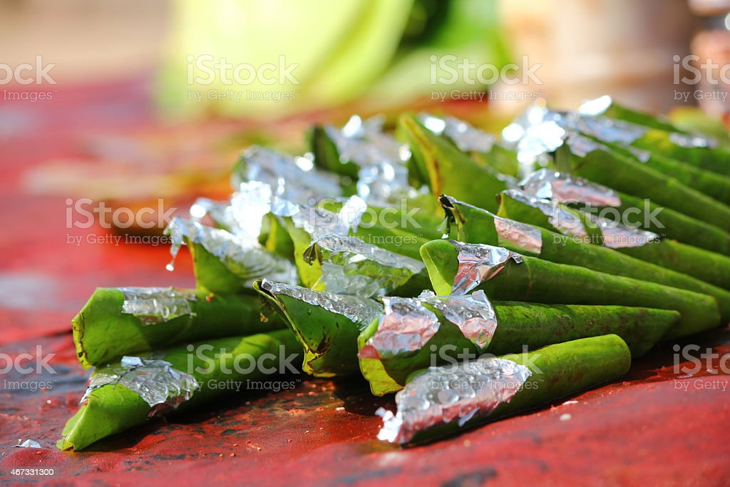 paan, an indian traditional mouth freshner stock photo