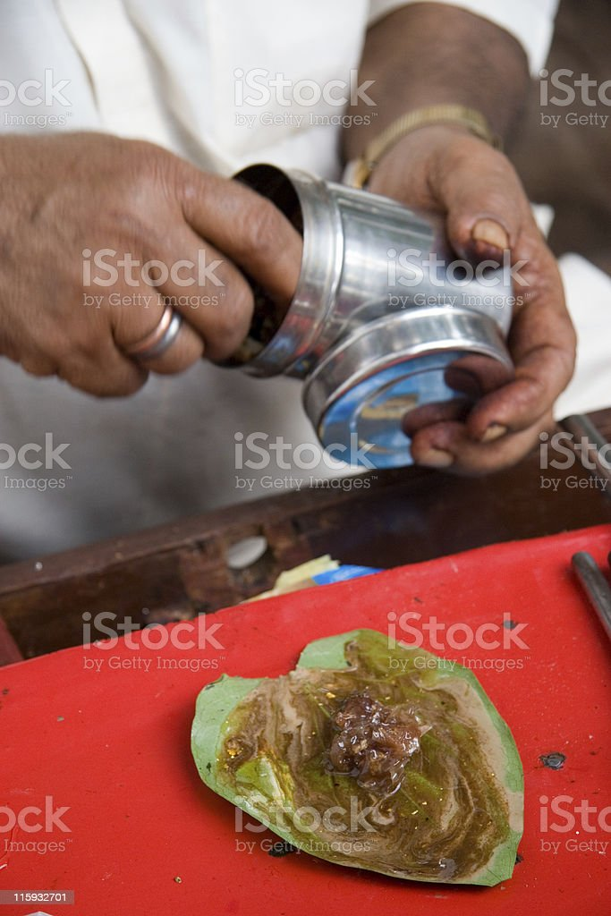 Paan Wallah royalty-free stock photo