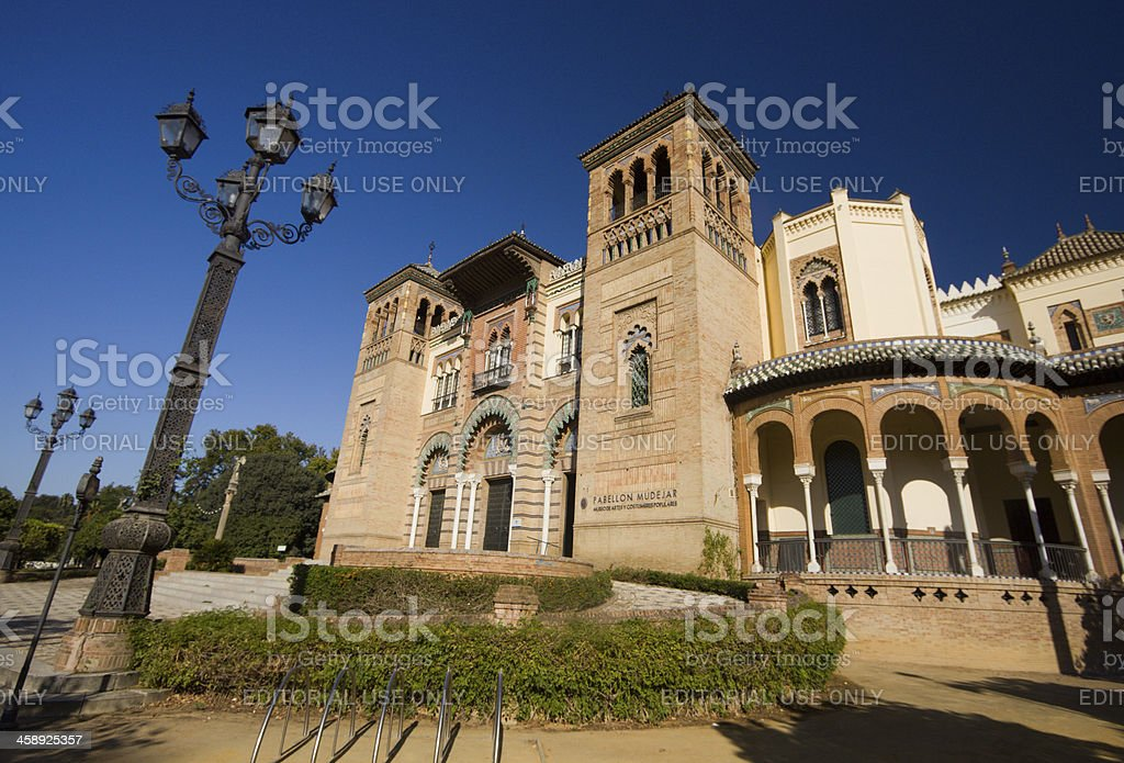 Pabellón Mudéjar in Seville, Spain royalty-free stock photo