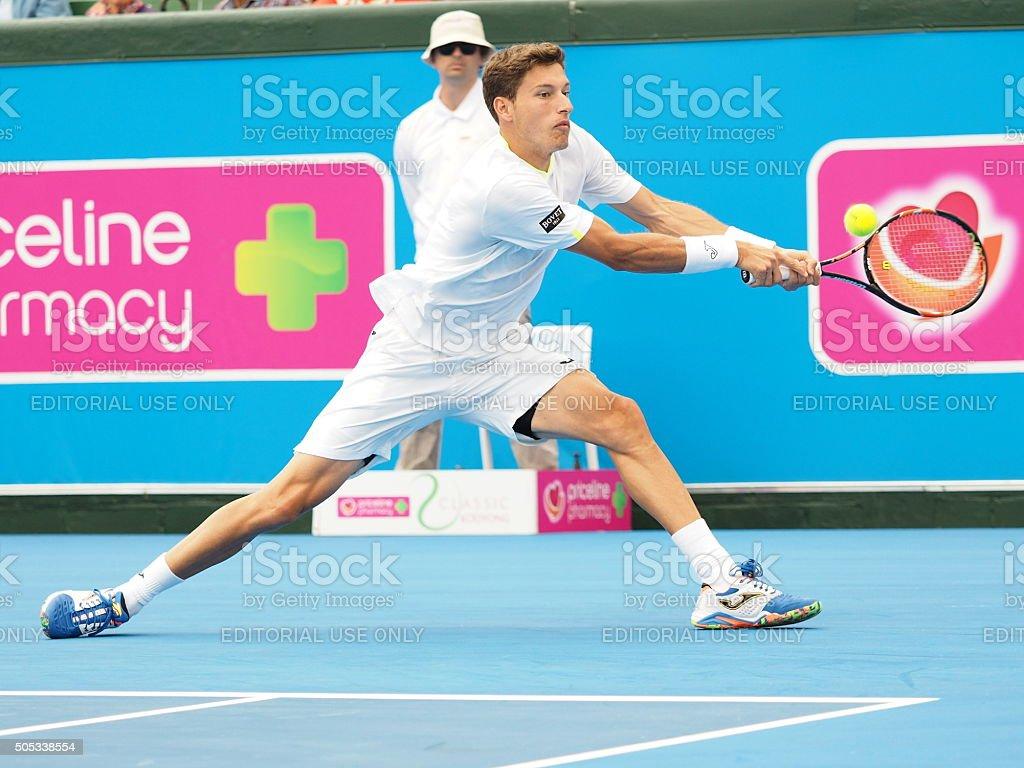 Pablo Carreno Busta stretch forehand stock photo