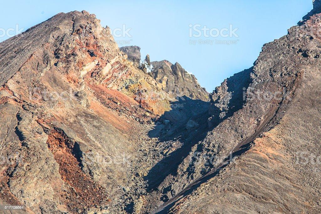 Pacaya Volcano in Guatemala stock photo