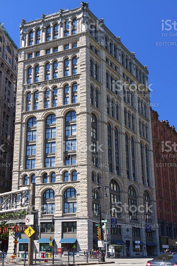 Pace University,  New York City. royalty-free stock photo