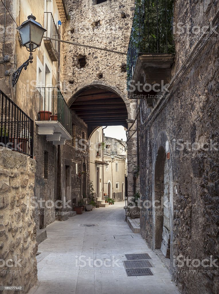 Pacentro alley,  L'Aquila Province, Abruzzi Italy royalty-free stock photo