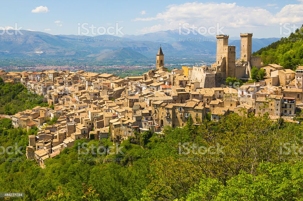 Pacentro medieval village, Abruzzo, Italy stock photo