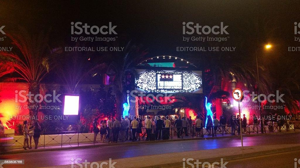 Pacha is a nightclub  in Ibiza, Spain stock photo