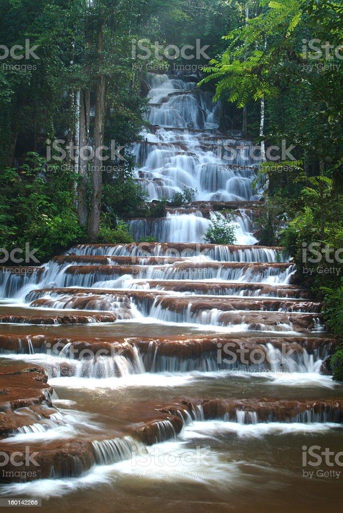 Pacharuen beautiful  waterfall. royalty-free stock photo
