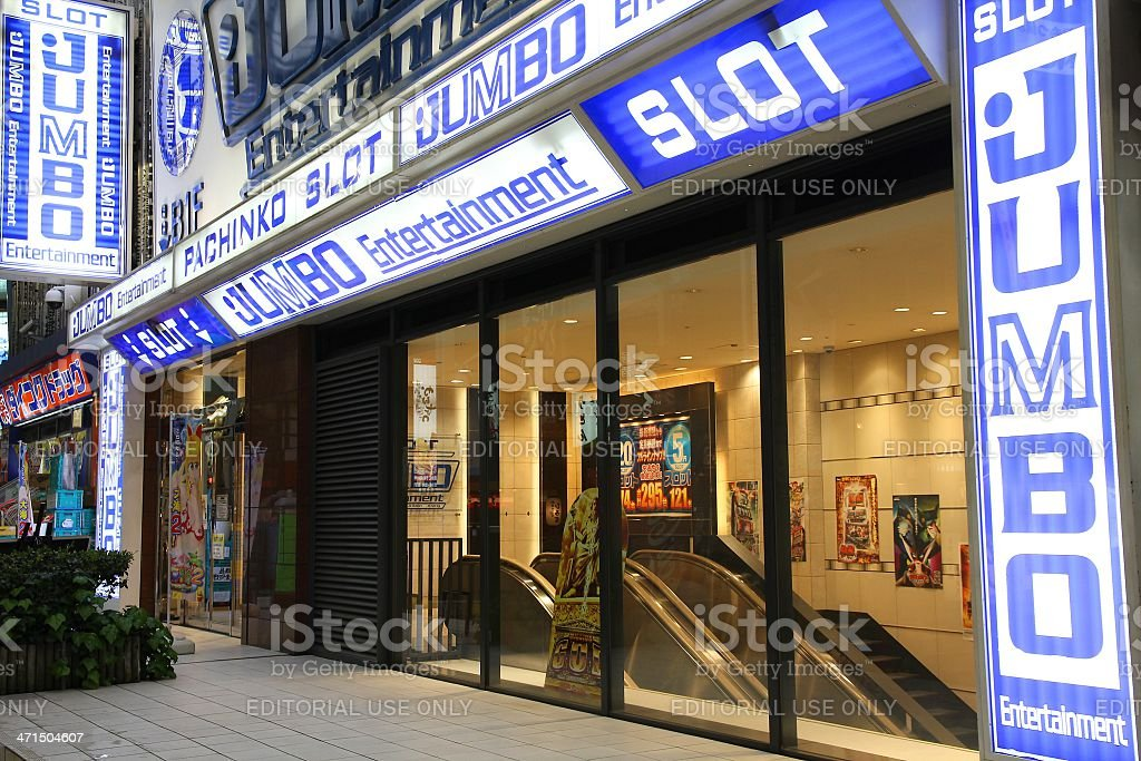 Pachinko parlor in Japan royalty-free stock photo