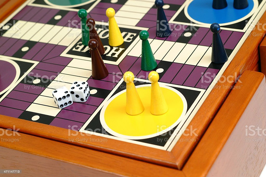 Pachisi or Ludo royalty-free stock photo