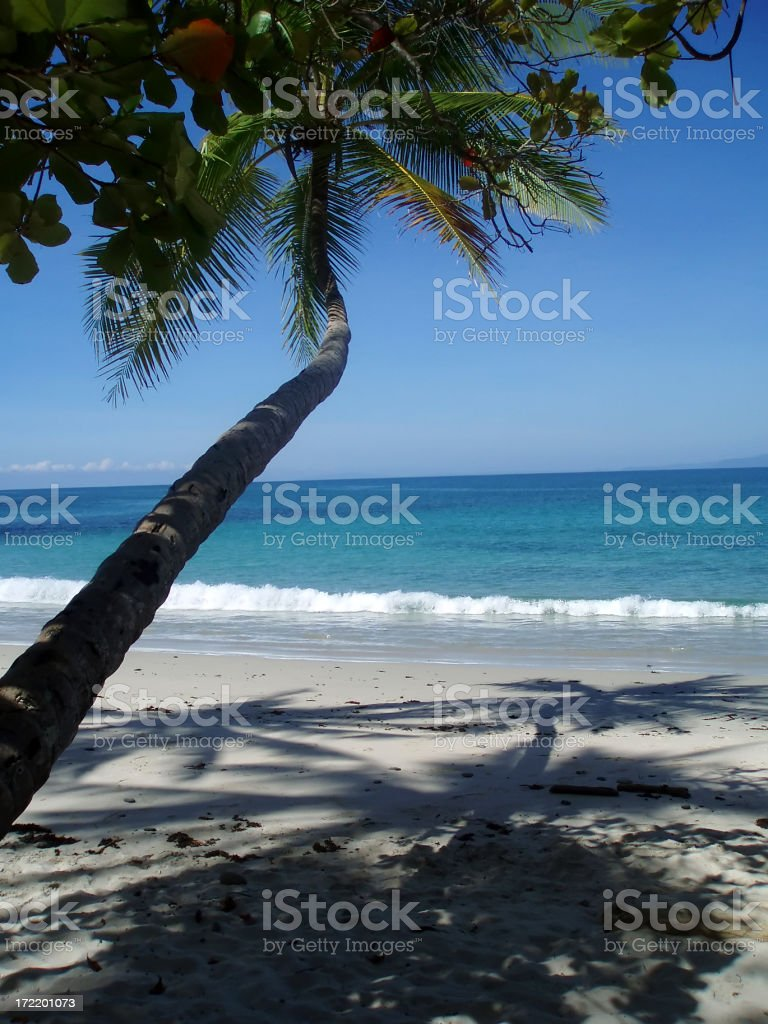 Pacific Beach in Costa Rica, Central America royalty-free stock photo