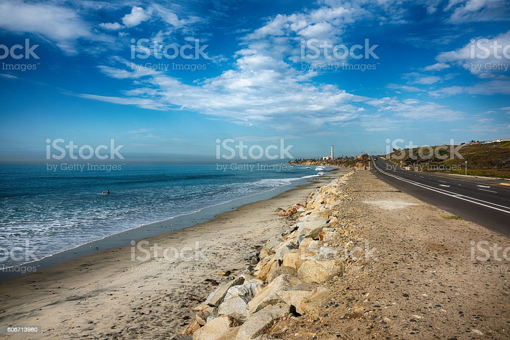 Pacific Coast Highway 101 Through Carlsbad California stock photo
