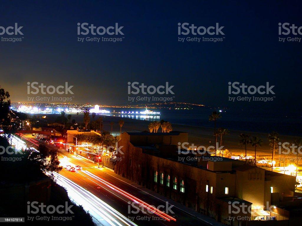Pacific Coast Highway - Midnight royalty-free stock photo