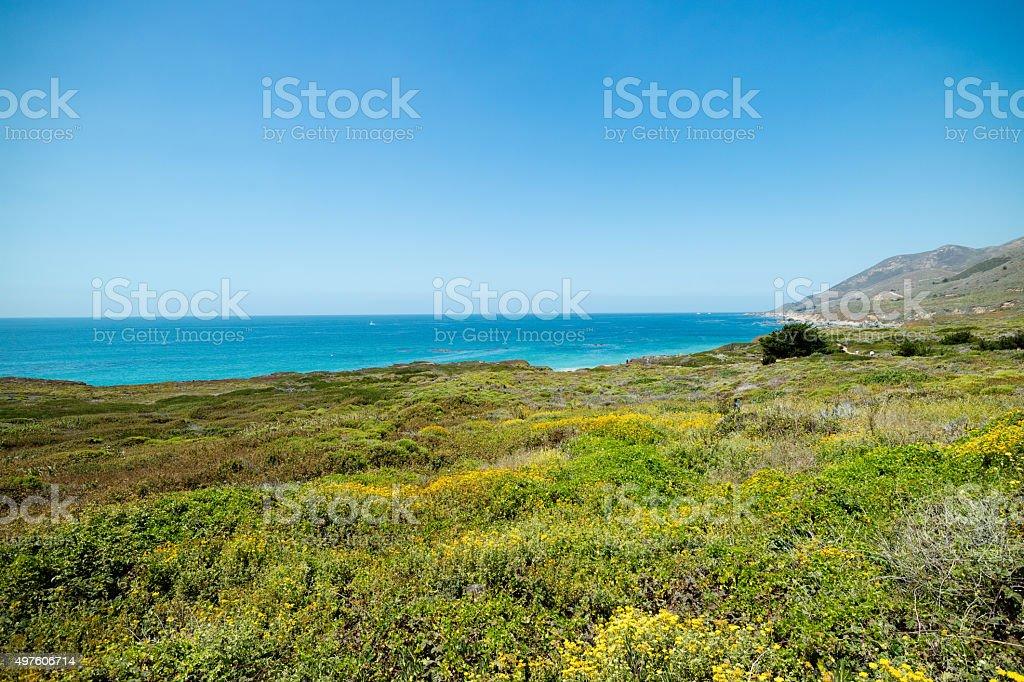 Pacific Coast Highway Route 1 malerischen im Sommer, Kalifornien Lizenzfreies stock-foto