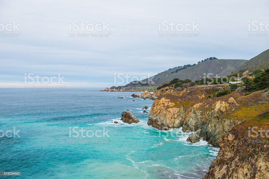 Pacific Coast Highway Route 1 scenic summer view stock photo