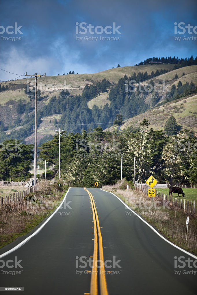 Pacific Coast Highway through Mendocino County, CA royalty-free stock photo