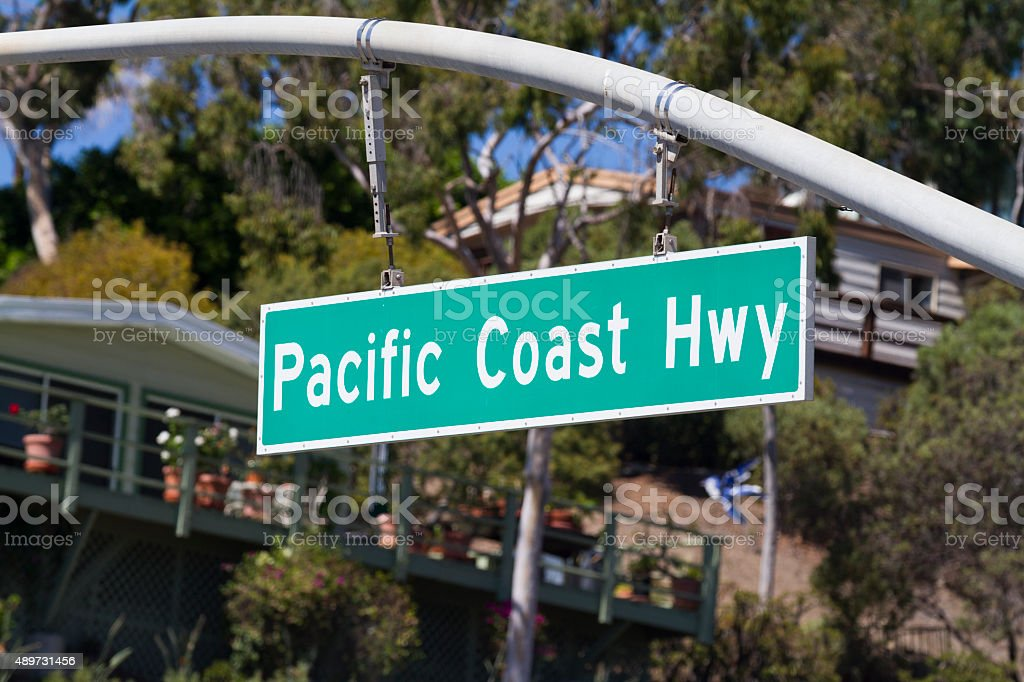 Pacific Coast Hwy stock photo