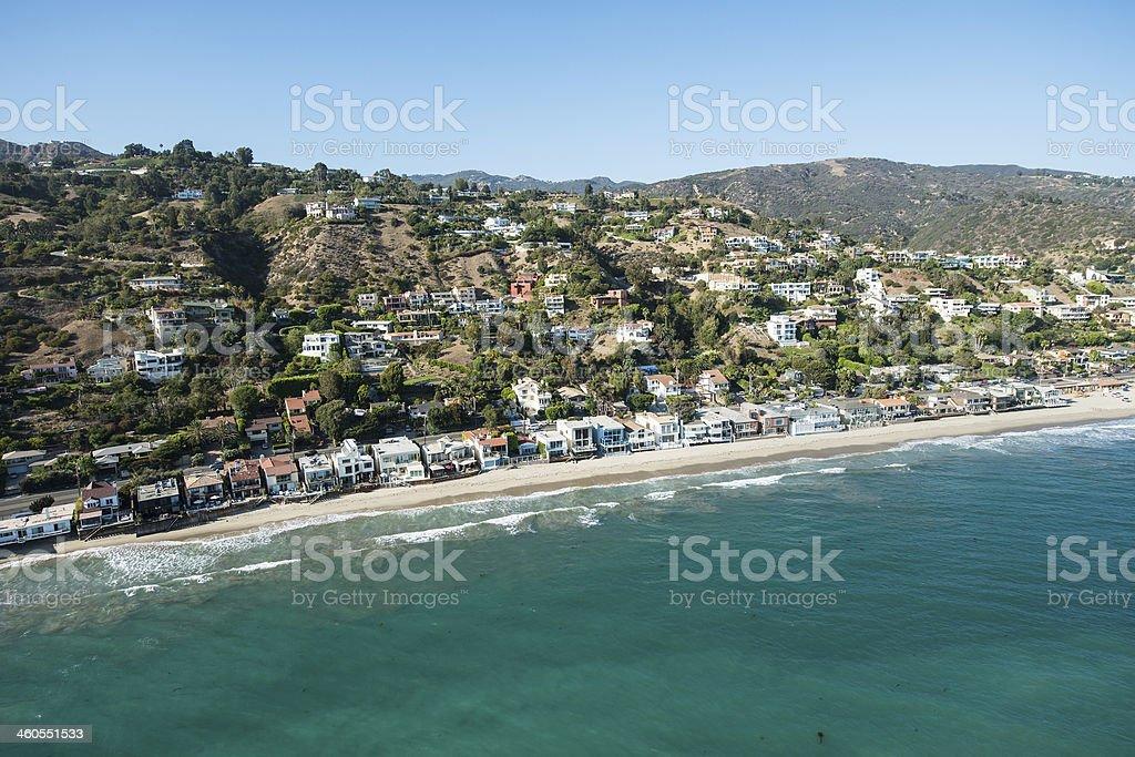 Pacific Coast in Malibu, California stock photo