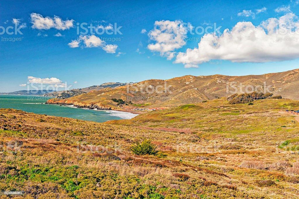 Pacific Coast Marin Headlands stock photo