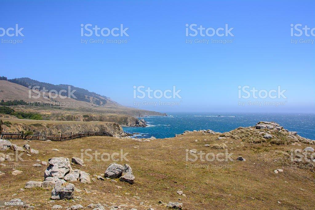Pacific coast near Fort Ross, California USA stock photo