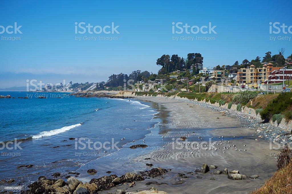 Pacific Coast of Chile stock photo