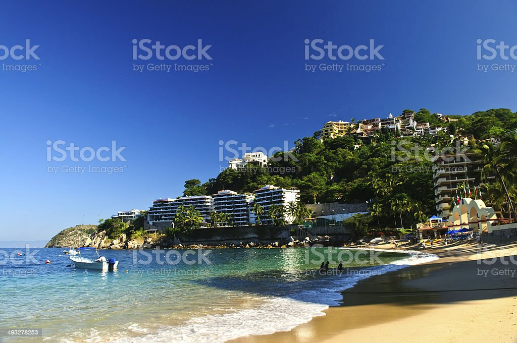 Pacific coast of Mexico stock photo