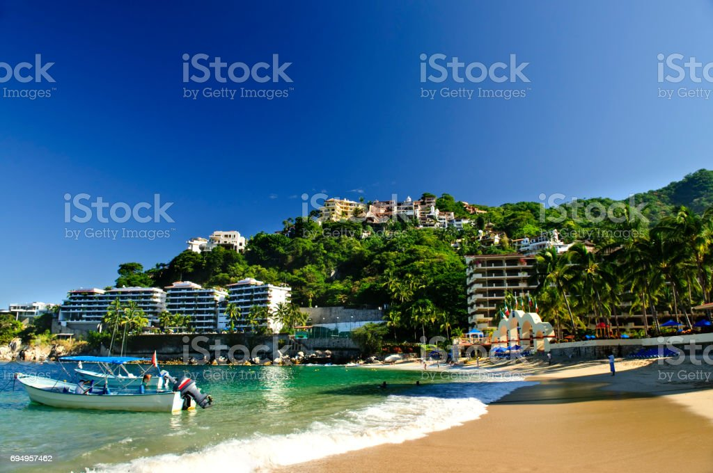 Pacific coast of Mexico stock photo