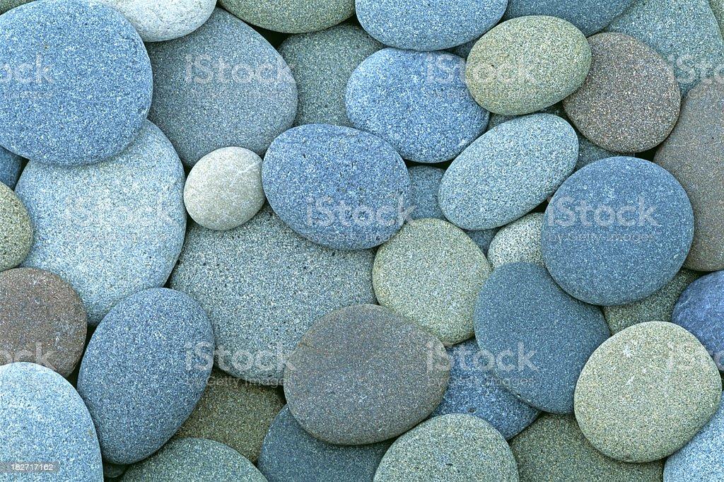 pacific coast pebbles stock photo