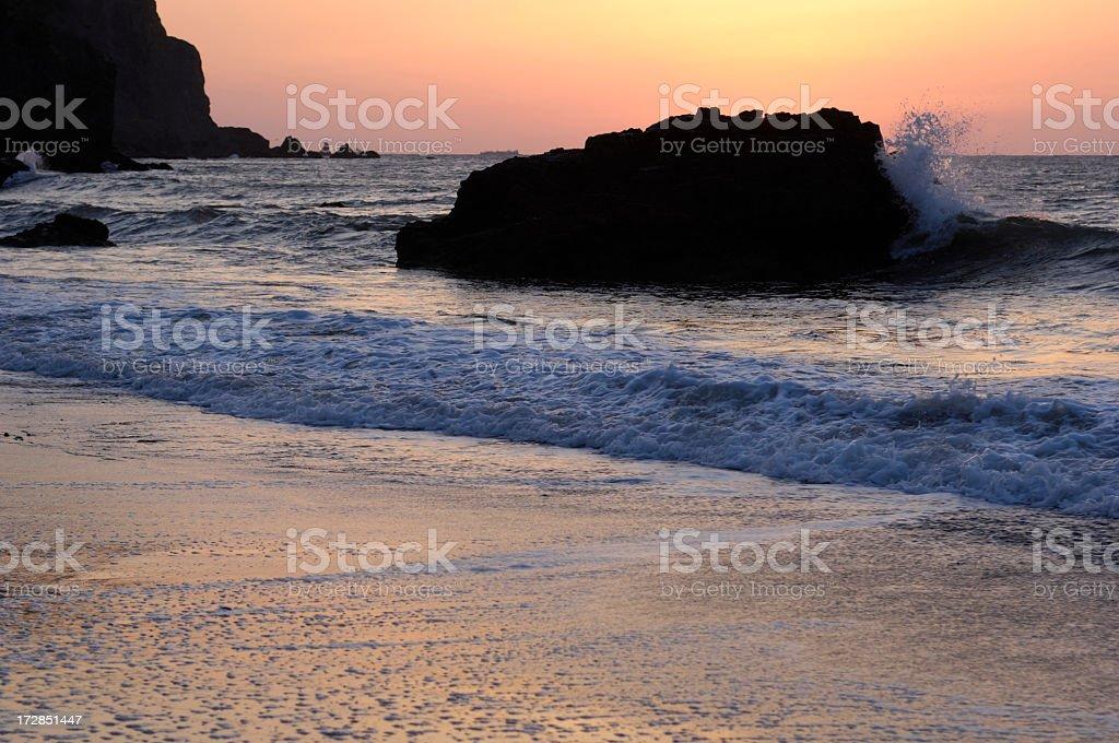 Pacific Coast Sunset royalty-free stock photo