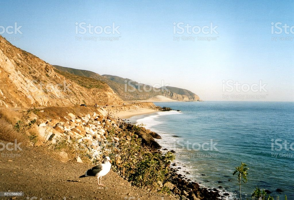 Pacific coastline at Point Mugu State Park, California stock photo